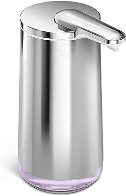 石鹸ディスペンサー、自動石鹸ディスペンサータッチレス、赤外線モーション作動センサーステンレス鋼の皿の液体ハンズフリー石鹸ポンプ、バスルーム、キッチン用