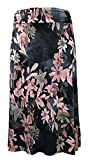 LEEBE Mujer Talla Grandes - Falda Larga Estilo Maxi (1XL-5XL) (2XL (50-52), Floral Malva Negra)