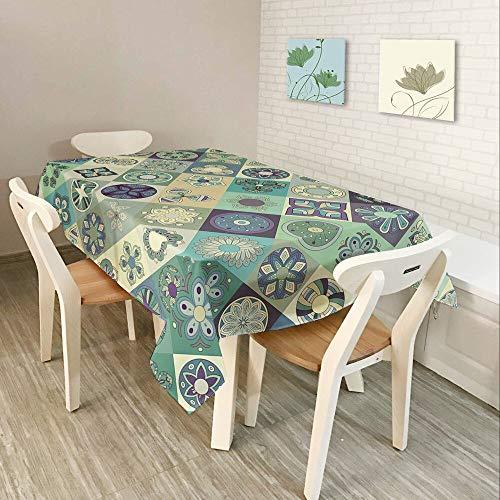 XXDD Textiles para el hogar Moderno Mantel 3D, Utilizado en la Cocina Color música partitura símbolo patrón Impermeable Rectangular Mantel A7 140x180cm