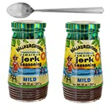 Walkerswood Traditional Jamaican Mild Jerk Seasoning Bundle (2 Pack) - 10 Oz (280 g) - Perfect for Chicken, Lamb, Pork, and More - Comes with a Premium Penguin Spoon
