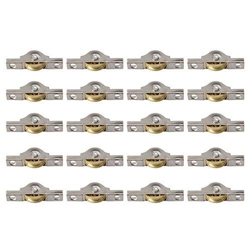 BQLZR Rueda corredera de cobre de 20 mm para armarios, armarios, puertas, paquete de 20