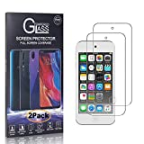 CUSKING iPod Touch 5th /6th Generation 硬度9H 強化ガラスフィルム Apple iPod Touch 5th /6th Generation 専用設計 ガラスフィルム オイル防止 99%透過率 指紋防止 超薄0.26mm 液晶保護フィルム【2枚セット】
