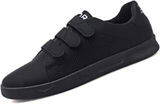 CAIFENG Sneaker de Mode for Hommes Chaussures de Sport Crochet & Loopstrap Style PU Cuir PU Top Top Top Color SOLY (Color ...