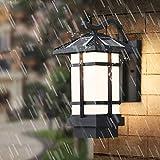 Hotel Stil Nachtwandleuchte Solar Wandleuchte Outdoor Balkon Lampe Chinesisch-Stil Retro Outdoor Wasserdichte Durchgang Korridor Hof Lampe Geeignet für Wohnzimmer Schlafzimmer