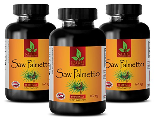 Prostate Health Supplements Prostate Pills - Saw Palmetto 160mg - Saw Palmetto Best Seller - 3 Bottles 180 Softgels