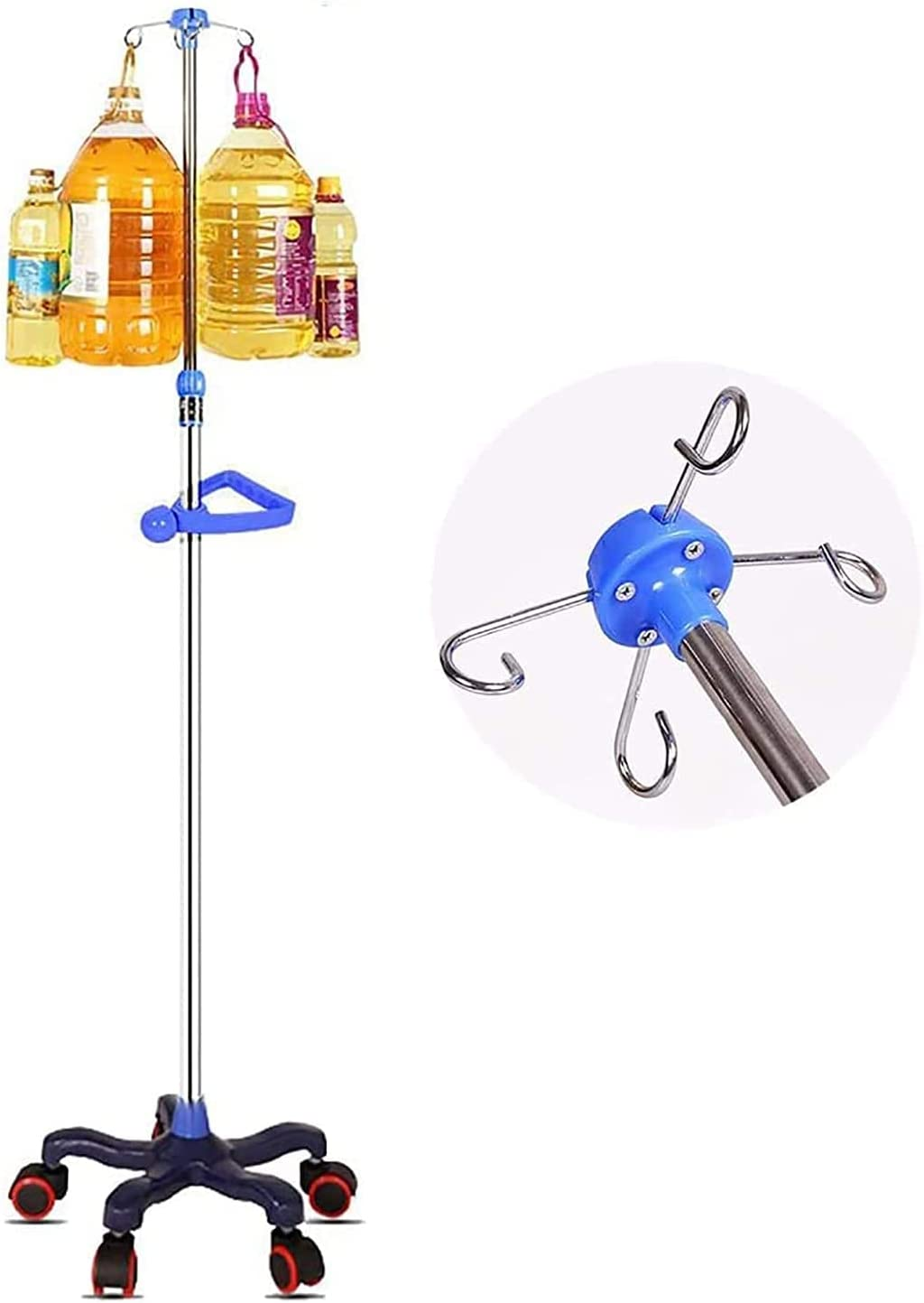YAOJIA Max 41% OFF Medical IV Poles Stand with Med Wheels Pole Price reduction Portable