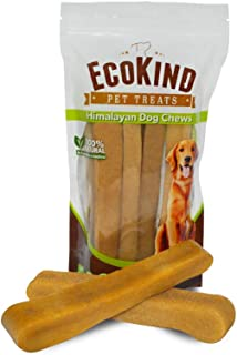 EcoKind Pet Treats Himalayan Gold Yak Dog Chews | Grade A Quality, 100% Natural, Healthy & Safe for Dogs, Odorless, Treat for Dogs, Keeps Dogs Busy & Enjoying, Indoors & Outdoor Use
