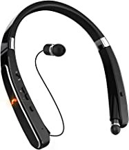 Neckband Bluetooth Headset, Pandawill [30 Hours Playtime] Wireless Bluetooth Headphones Compatible for XS/X/8/7 Plus Samsung Galaxy S8 Note 8 Other Bluetooth Enabled Devices (Black) (Black)