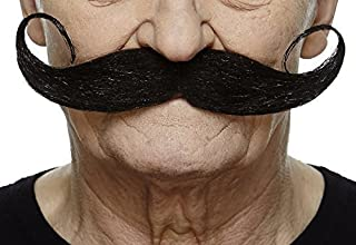 Fake Mustache, Self Adhesive, Novelty, Capt' HookFalse Facial Hair, Costume Accessory for Adults