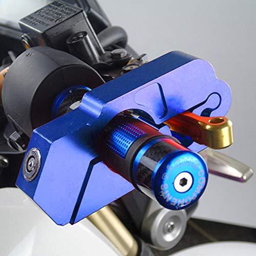 Bloqueo de Manillar de Motocicleta, Bloqueo de Palanca de Freno de Agarre Universal Anit Tapas de Robo Candados de Seguridad de Embrague Aleación de Aluminio CNC con 2 Llaves para ciclomotor, ATV