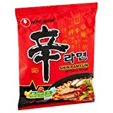 NongShim Shin Ramyun Noodle Soup, Gourmet Spicy, 4.2 Ounce (10 Pack)