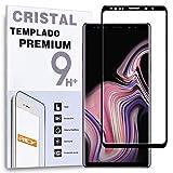 REY Protector de Pantalla Curvo para Samsung Galaxy Note 9, Negro, Cristal Vidrio Templado Premium, 3D / 4D / 5D