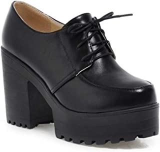 LaBiTi Womens Comfortable Low Chunky Heel Booties Closed Toe Buckle Ankle Boots