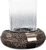 Dekorativer Kerzenhalter aus Glas (DH3053)   Aluminium-Kerzenhalter   Glaslaternen für Kerzen   Tisch-Kerzenhalter (12 x 12 x 17)