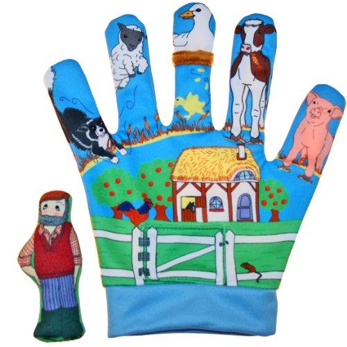 alles-meine.de GmbH Handschuh Bauernhof Tiere Tier Kuh Schwein Fingerpuppe Handspielpuppe