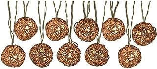 Portfolio 8.5-ft 10-Light White Textured Bamboo-Shade Plug-in Globe String Lights