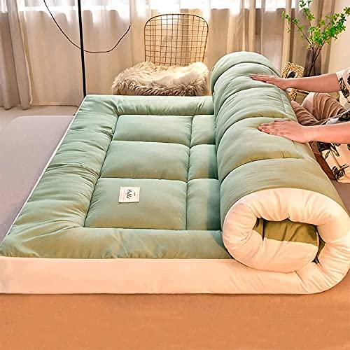 LUOQI Colchn de futn Plegable japons, colchn de Piso Grueso, Doble, Reina, Rey, Tatami, Almohadilla para Dormir porttil, Almohadilla para colchn para Cama de Piso