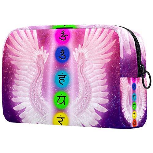 Broderie Dragons Chinois Maquillage Sac Cosmétique Pochette Organisateur de Voyage Toilettes Pochette Pochette Multicolore 02 18.5x7.5x13cm/7.3x3x5.9in