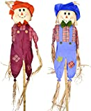 "Gift Boutique Thanksgiving Scarecrow Garden Yard Stake 60"" Fall Outdoor Decorations Set of 2 Autumn Harvest Party Accessories"