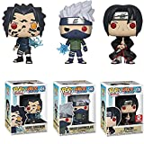 3 Unids / Set Figuras De Anime Figuras Pop Naruto Sasuke # 455 Kakashi # 548 Itachi # 578 Figura De Acción De Vinilo Colección De PVC Muñecas Modelo Niños En Caja 10Cm