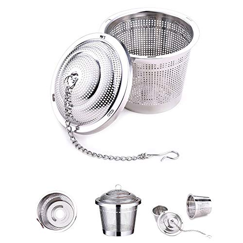 ADSIKOOJF S/M RVS Thee Strainer Thee Mesh Infuser Herbruikbare Thee Strainer Losse Theepot Blad Spice Filter Thee Vergrendelen Bal M