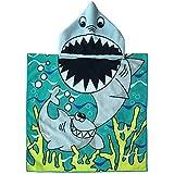 Amaoma Poncho Toalla Niño Toalla Playa Niño Toalla con Capucha Niño Albornoces de Dibujos Animados Infantiles para Baño Natación Playa Albornoz con Capucha para Niñas Niños