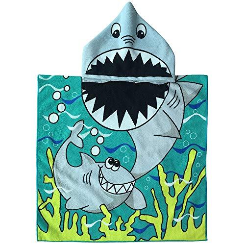 Amaoma Poncho Mare Bambino Asciugamani Mare con Cappuccio Accappatoio Bambini Asciugamani Spiaggia Cartoon Swim Accappatoio Bambino Animale Surfing Incappucciato Asciugamano per Ragazzi Le Ragazze