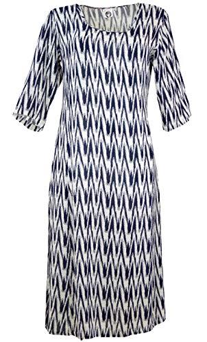 Guru-Shop, Indiaas Boho Tuniekje, Lange Zomerjurk, Synthetisch, Lange Midi-jurken