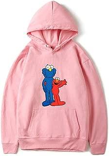 YX Hoodie Felpa con Cappuccio Sesame Street KAWS Gum Loose