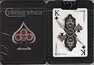 Chrome Kings Players Edition Playing Cards Poker Size Deck USPCC Custom Limited