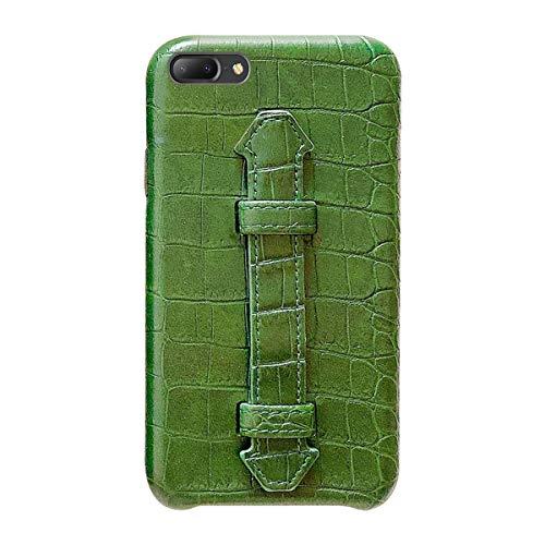 Suhctup Coque Compatible pour iPhone 8 Plus Rétro PU Cuir Cover Housse avec Fonction de Support [ 3D Emboss Crocodile Motif Texture Leather ] Ultra Fine Anti Choc Back Cover(Vert)