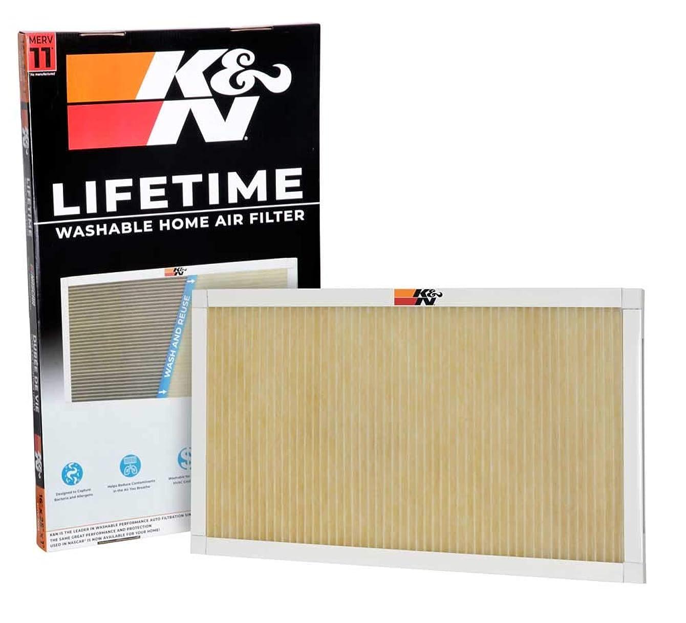 K&N HVC-11625 Lifetime Washable AC Furnace Air Filter, MERV 11 16x25x1