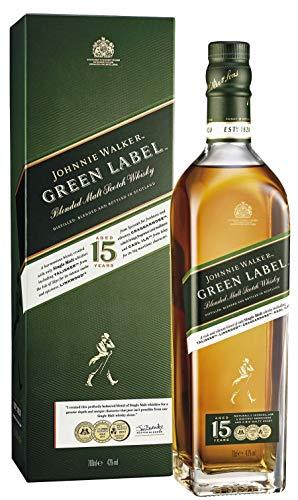 Johnnie Walker Green Label 15 Jahre, Blendet Whisky, 0,7l.
