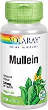 Solaray Mullein Leaf 330mg   Herbal Support for Healthy Respiratory, Bronchial & Immune Function   Vegan   100 CT