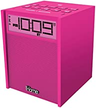 IHOME iBN180P Rubberized Dual-Alarm Clock Radio with NFC, Bluetooth(R) & USB Charging