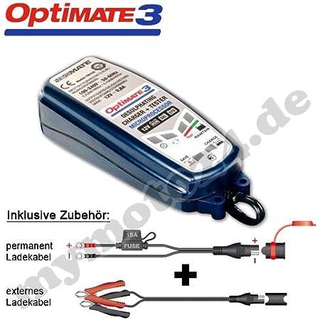 Batterieladegerät Tecmate Optimate 3 Vollständige 12v Pflege F Kleinere Batterien Tm 430 Mit Sae Steckern Auto