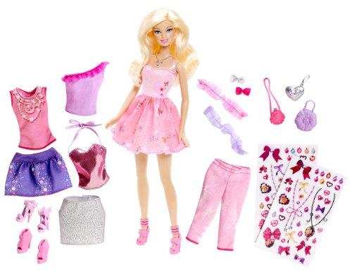 Preisvergleich Produktbild Mattel Barbie Y7503 - Modekollektion-Geschenkset,  Puppe inklusive 3 Outfits und Accessoires