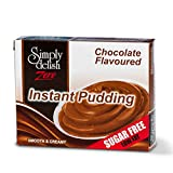 Simply Delish, Sugar Free Instant Pudding - Gluten Free, Vegan Sweet, Chocolate Flavour - Pack of 6, Low Fat Pudding