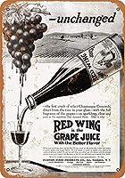 赤ワイングレープジュースメタルレトロな壁の装飾ティンサインバー、カフェ、家の装飾