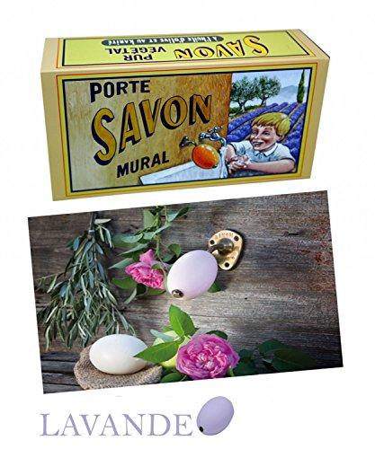 La Savonnerie de Nyons Porte-savon rotatif en laiton Lavande 260 g Multicolore Taille unique
