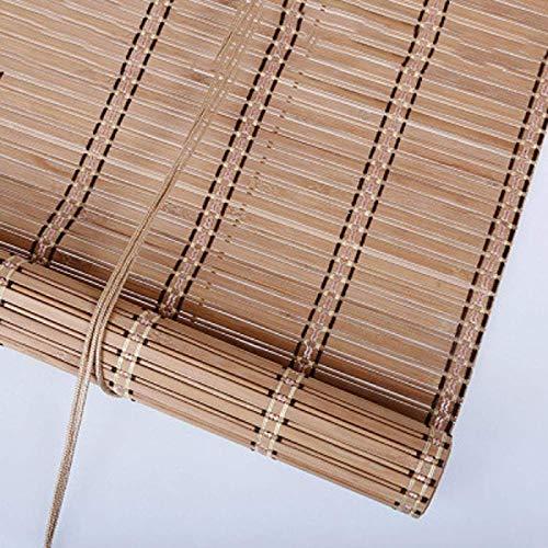 GWZSX Estores de Bambú Sombreado Protección Solar Estor Enrollable de Bambú Tejidas a Mano Natural Cortina de Bambú con Elevador para Exterior Interior-1.1 * 2.2M Segundo