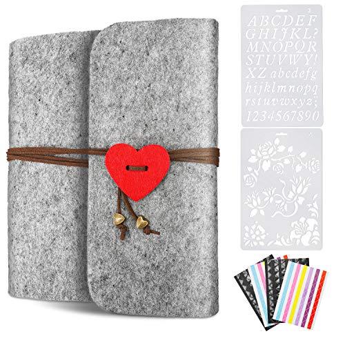 LOVEXIU Album Fotos Scrapbook Kit,Album Scrapbook Negro,Albunes De Fotos para Personalizar,Libro De Visitas De GraduacióN, Diario De Viaje, áLbum De Crecimiento del Bebé, Bodas