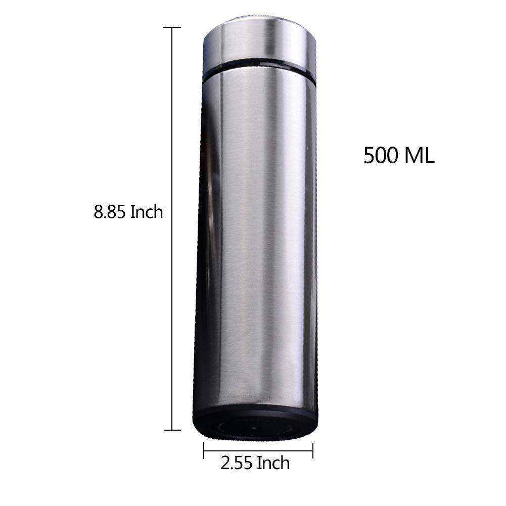 LIRIDP 保温ポット 絶縁されたステンレス鋼の水差し、二重壁の真空魔法瓶、BPAのない二重壁の絶縁材はより長い500MLのための余分な寒さか余分な熱を保ちます (色 : シルバー しるば゜)