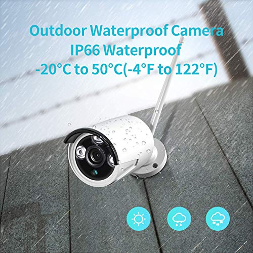 HeimVision CA01 Security Camera, Only Compatible with HeimVision HM241/HM243 8CH Security Camera System, 1080P 2.0MP Bullet Surveillance Cameras, Waterproof Outdoor/Indoor IP Camera with Night Vision
