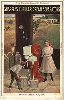 The Sharples Separator Company - Sharples Tubular Cream Separator Original Vintage Postcard