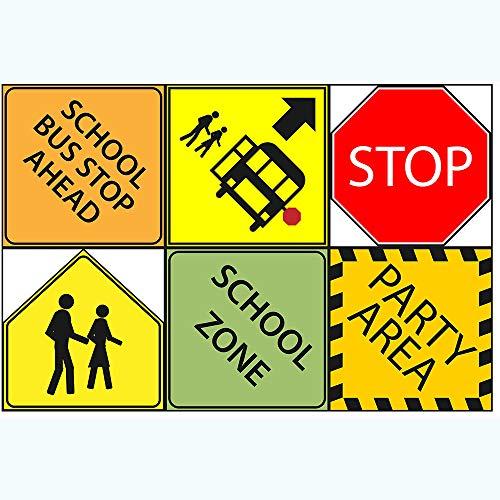 School Bus Party Sign 6' Cutouts, School Bus Party Decorations, School Bus Party Supplies, Room Decorations, Party Signs