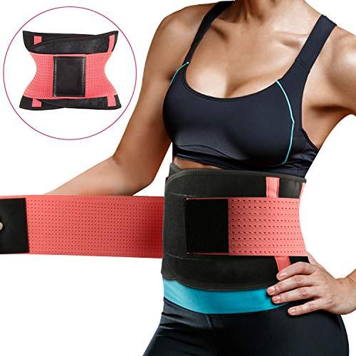 Fitnessgürtel Taille Trimmer, Schwitzgürtel zur Fettverbrennung Einstellbar Effizientes Schwitzen Fitness Gürtel Damen-Taillenformer für Sport Fitness,Training,Yoga, Cycling, Boxing