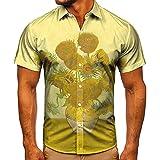 Hombre Camisas Hawaianas Funky Camisa Floral De Manga Corta Jinyuan para Hombre Camisetas Casuales para Hombre S-4XL
