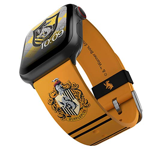 Harry Potter – Hufflepuff Smartwatch Band – Officially Licensed, Compatible with Apple Watch (not included) – Fits 38mm, 40mm, 42mm and 44mm