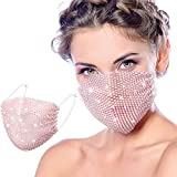 Bling Rhinestone Face Covering Chain Crystal Metal Masquerade Face Coverings Ball Party para mujeres...